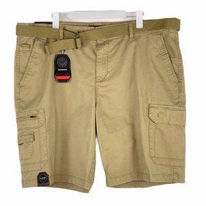 Weatherproof Khaki Tan Stretch Twill Shorts 44 NWT